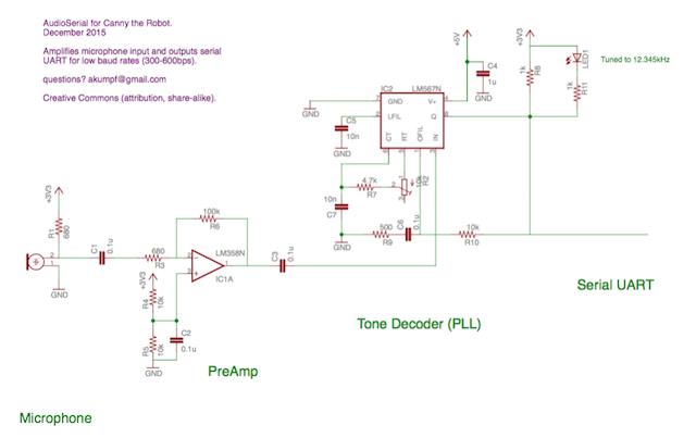 схема для передачи данных через микрофон